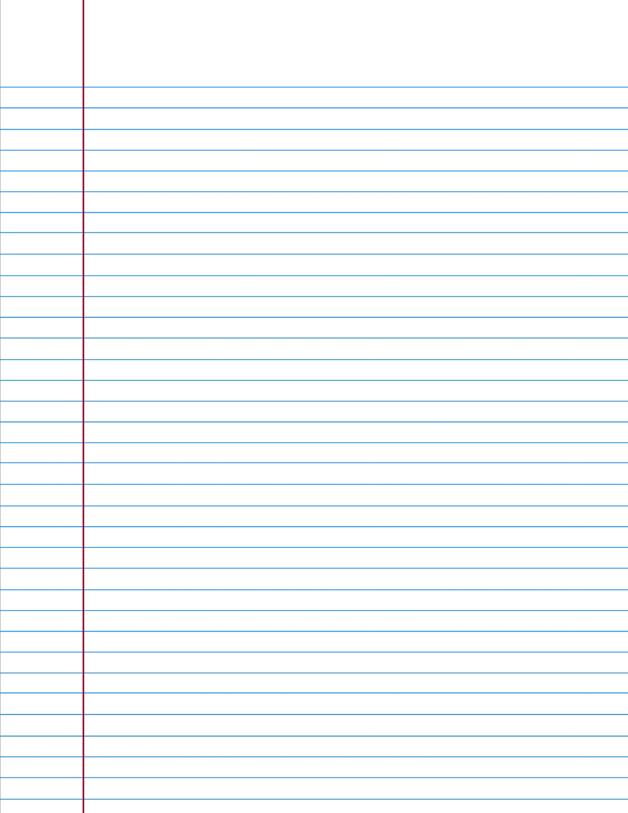 Margins On Lined Paper