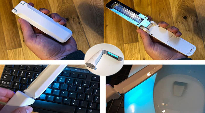 Use A Handheld Device To Sanitize Surfaces