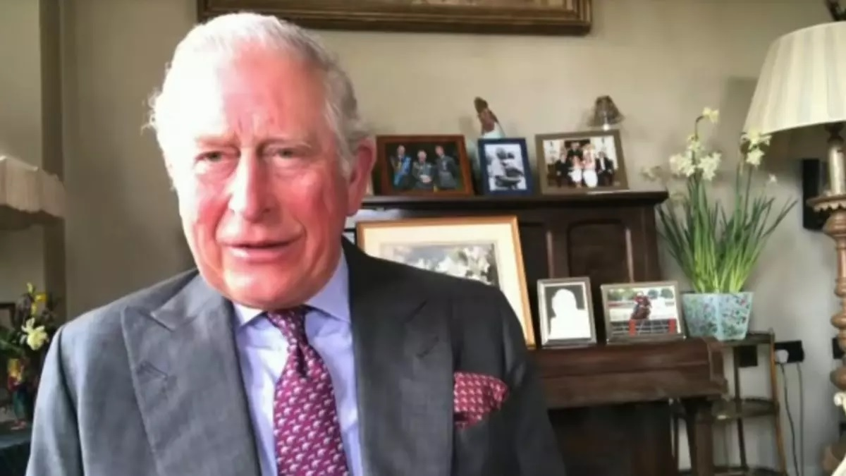 Photo In The Background During Prince Charles' Broadcast Causes An Online Frenzy