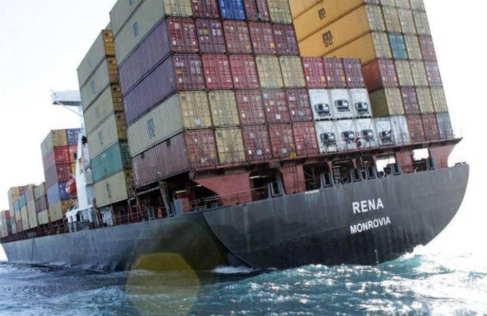 Rena Monrovia Strikes A Reef