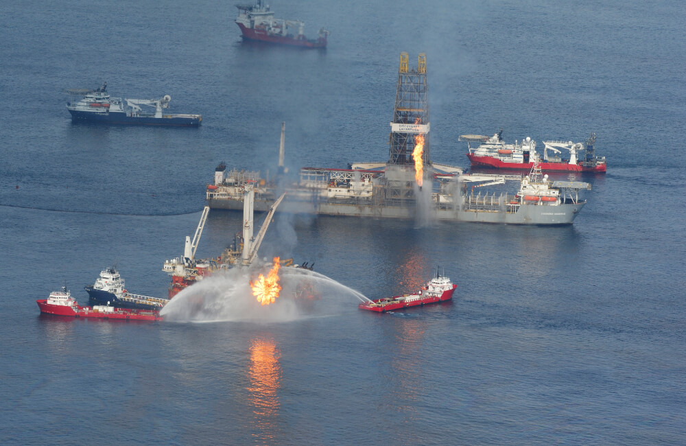 Deepwater Horizon Explosion And Oil Spill