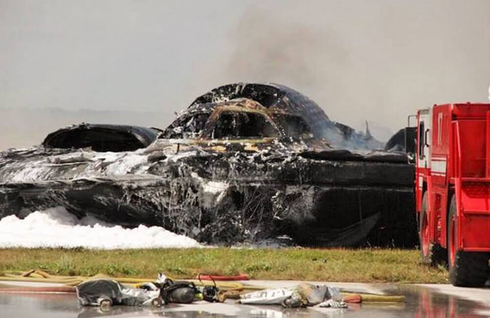 A B-2 Stealth Bomber Crashes