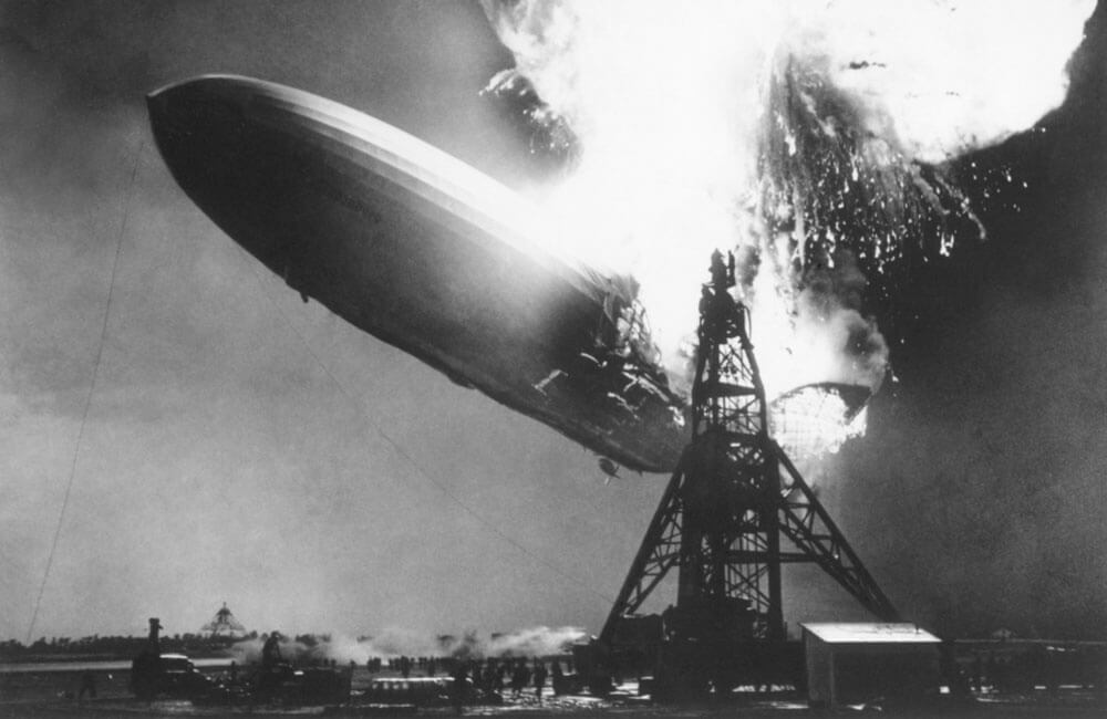 The Hindenburg Catches Fire And Crashes