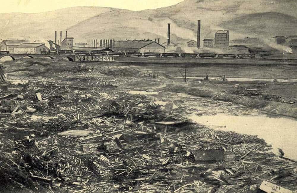 The 1889 Johnstown Flood In Pennsylvania