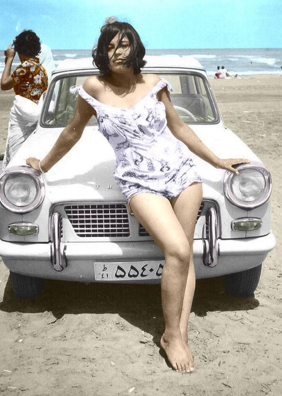 An Iranian Woman Hanging Out At The Beach In The '60s