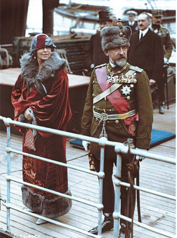 King Ferdinand And Queen Marie Of Romania In Dover, England