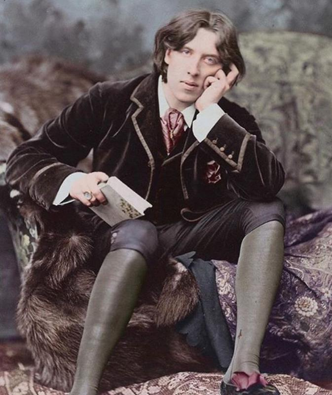 Oscar Wilde Posing For The Camera In 1882