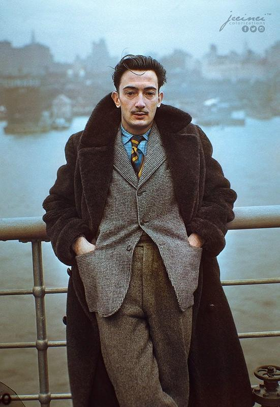 Salvador Dali Aboard The S.S. Normandie In New York City