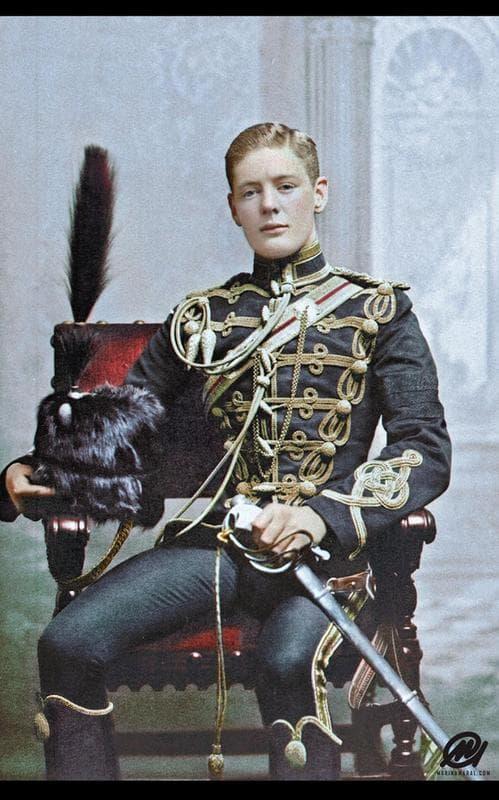 Cornet Winston Churchill In The 4th Queen's Hussar's Cavalry