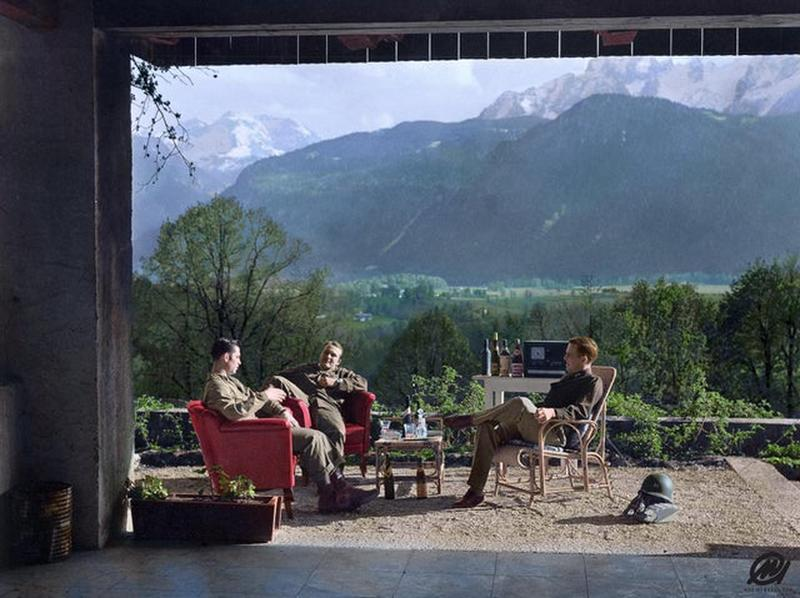 Paratroopers Of Easy Company Chilling At Adolf Hitler's Home