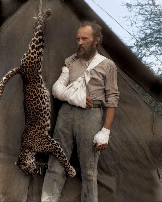 Carl Akeley And The Leopard That Attacked Him