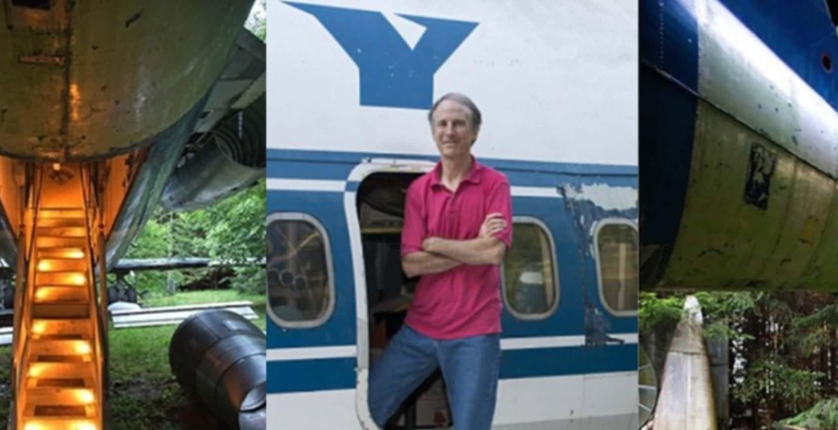 飛行機を家に改造した男性!一体どんな家になったのでしょう?