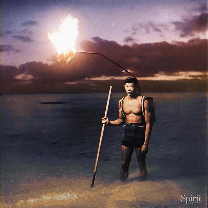 Pescador Hawaiano En La Noche