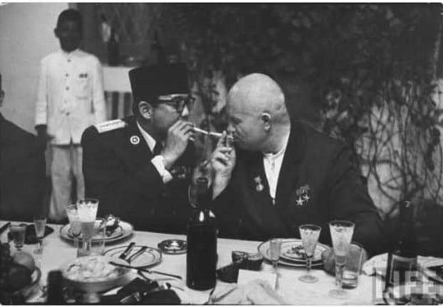 Sukarno And Khrushchev