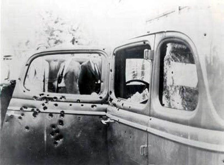 The Final Ride Of Bonnie And Clyde