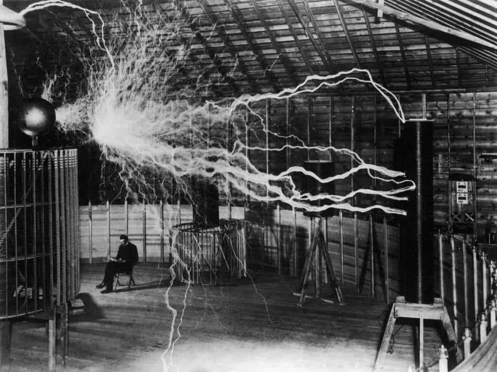 Nikola Tesla And His Office
