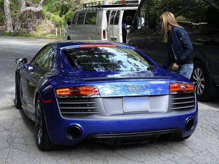 Heidi Klum Et Son Audi Bleue