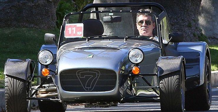 Simon Cowell Et Sa Caterham 7 CSR