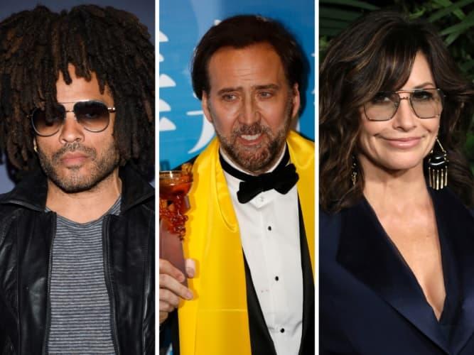 Lenny Kravitz, Nicolas Cage And Gina Gershon