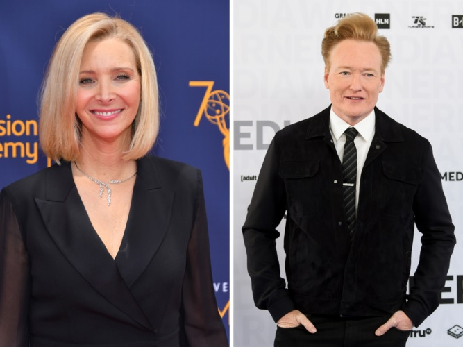 Lisa Kudrow And Conan O'Brien