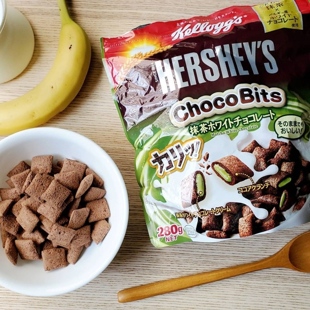 Hershey's Matcha White Chocolate Chocobits Cereal