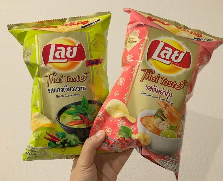 Green Curry And Shrimp Tom Yum Flavor Lays Chips