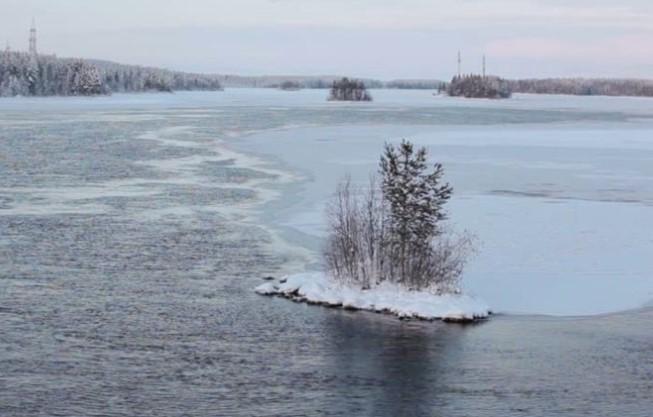 Um Lago Russo E Gelado