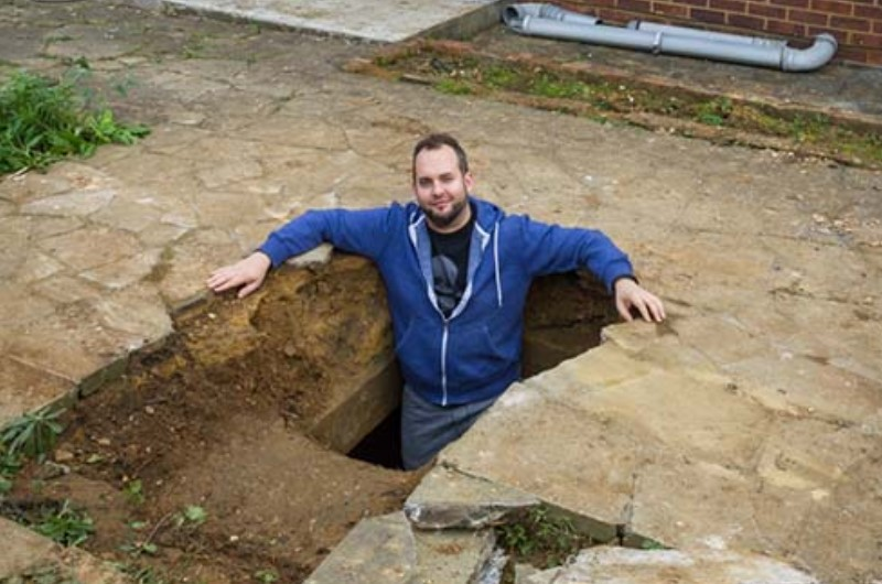 He Built Backyard Shelters