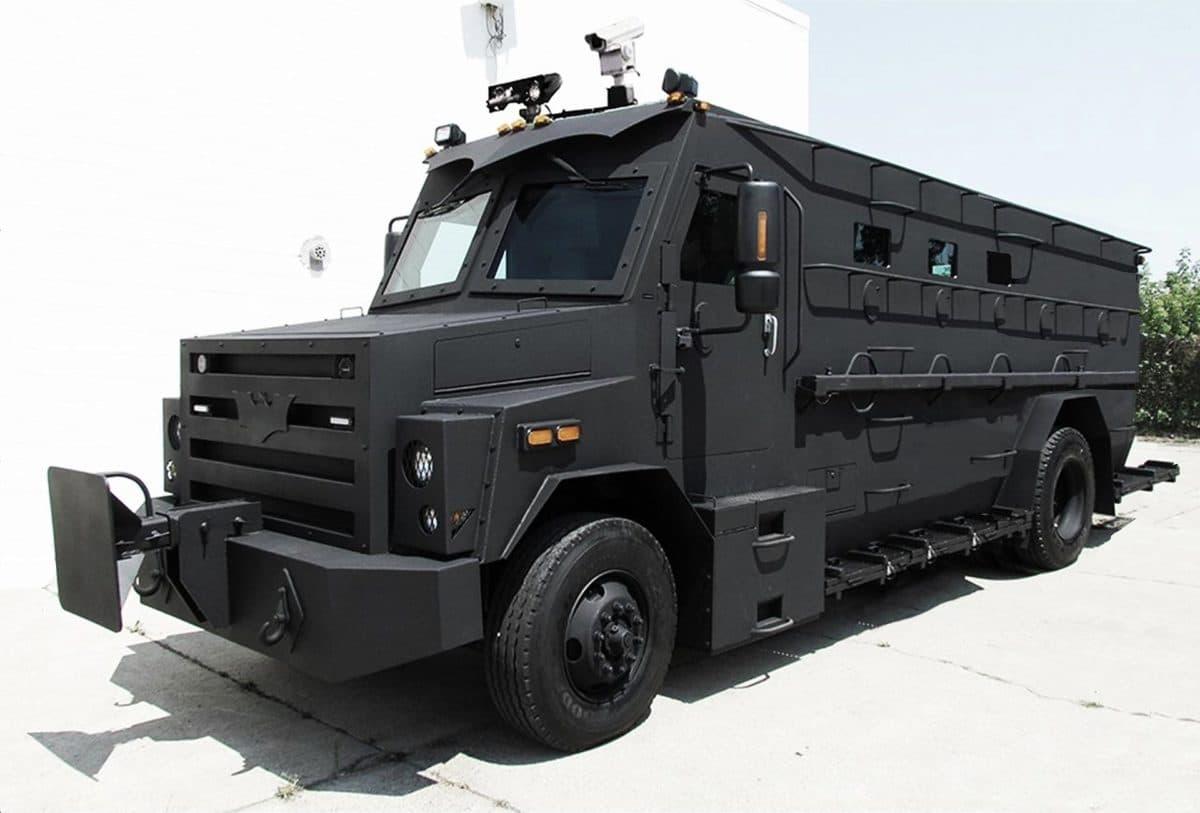The Mega M1 Riot Control Vehicle