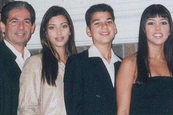 Kim, Rob, Y Kourtney Kardashian Con Su Padre Robert
