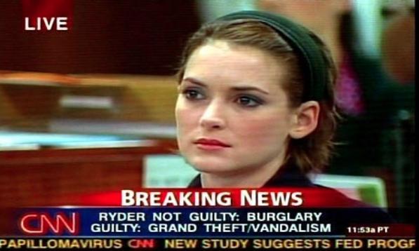 Winona Ryder Detenida Por Robar
