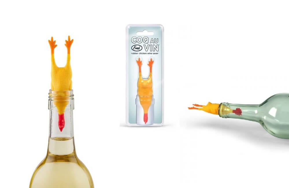 Rubber Chicken Bottle Stopper