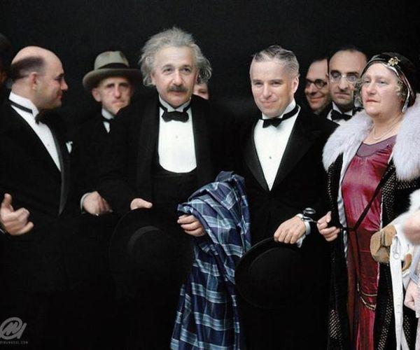 Charlie Chaplin E Albert Einstein Alla Premiere