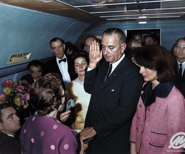 Lyndon B. In Air Force One