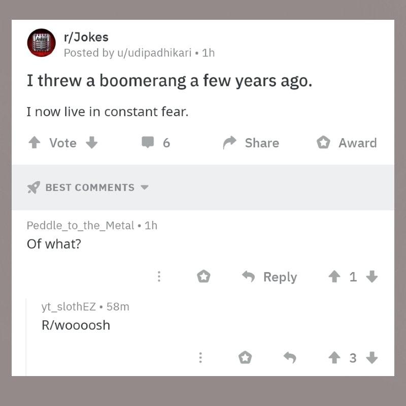 Le Boomerang A Frappé