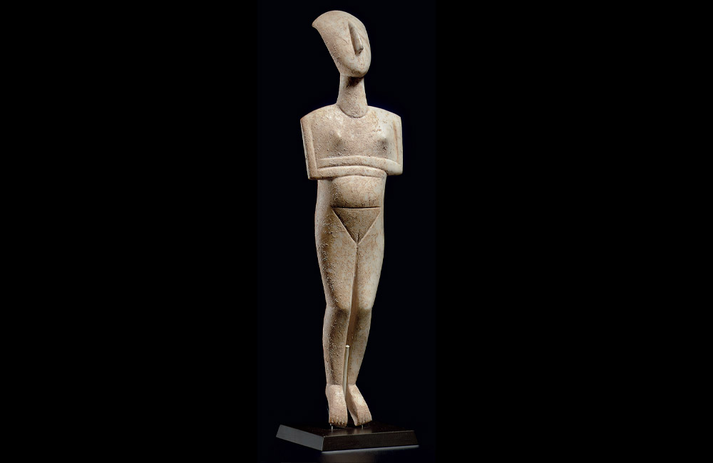 2400 BC Cycladic Marble Figure