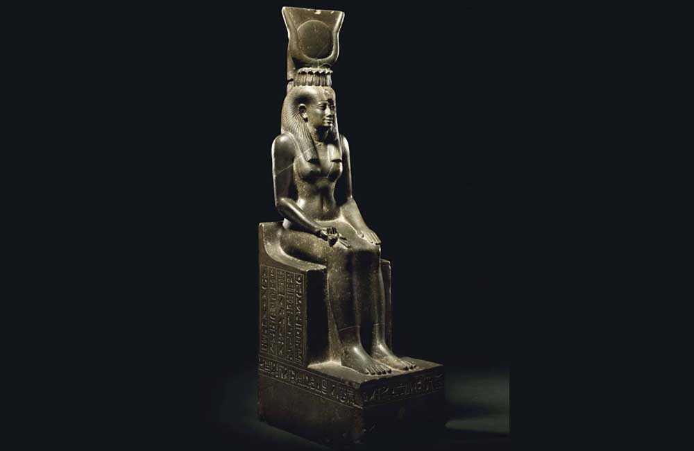 Greywacke Statue Tribute To Isis