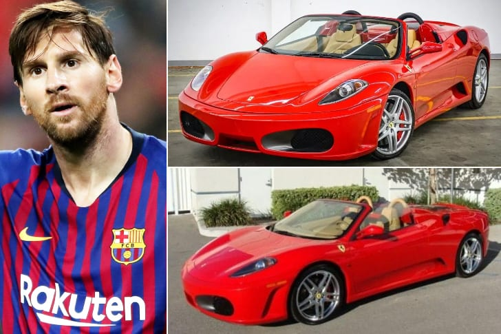Lionel Messi – Ferrari F430 Spider, Estimated $188K