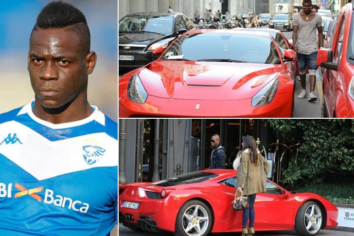 Mario Balotelli – Ferrari 458 Spider, Estimated $260K