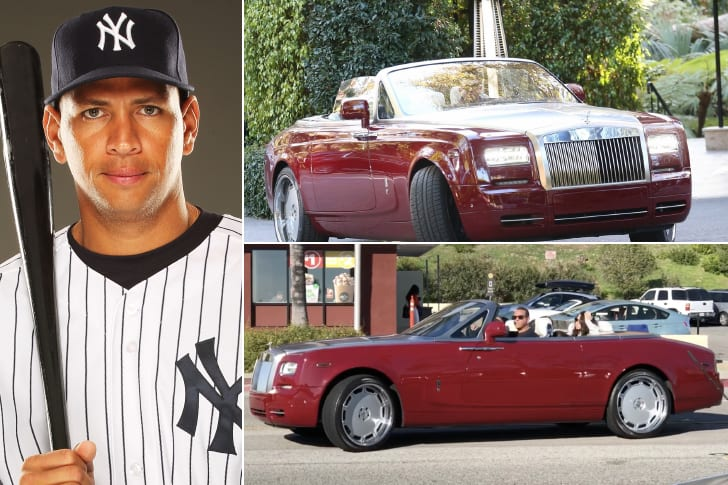 Alex Rodriguez – Rolls Royce Phantom Drophead Coupe, Estimated Over $500K
