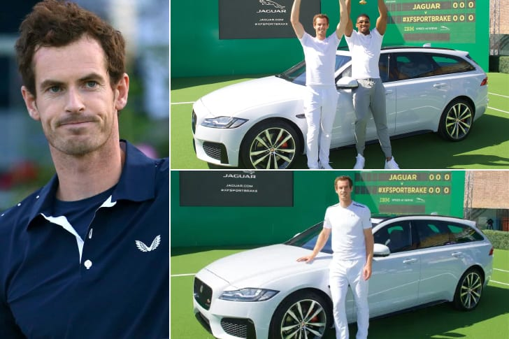 Andy Murray – Jaguar XF Sportbrake, Estimated $70K