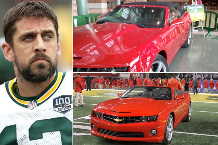 Aaron Rodgers – 2011 Chevrolet Camaro Convertible, Estimated $30K