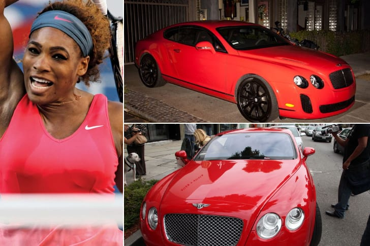 Serena Williams – Bentley Continental GT, Estimated $200K