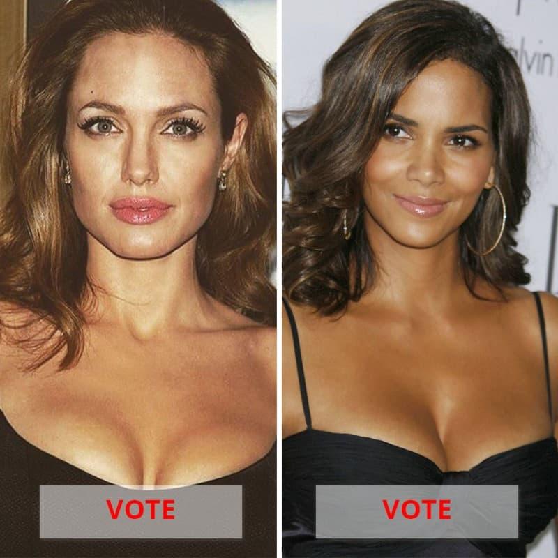 Halle Berry Vs. Angelina Jolie
