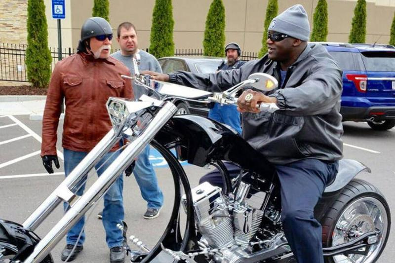 Shaq And His Custom Chopper
