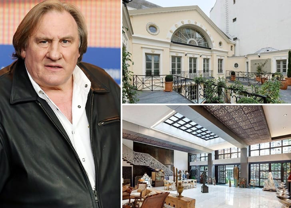 La Villa De Gérard Depardieu à Paris Estimée à Près De 65.4 Millions De Dollars