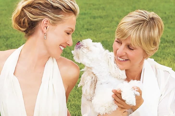 Ellen DeGeneres And Portia De Rossi – Maltipoo