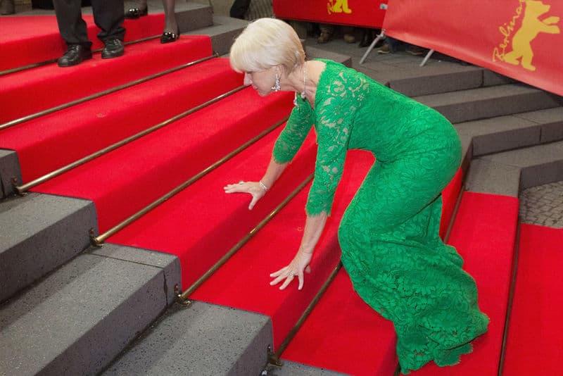 Dame Helen Mirren Tripped