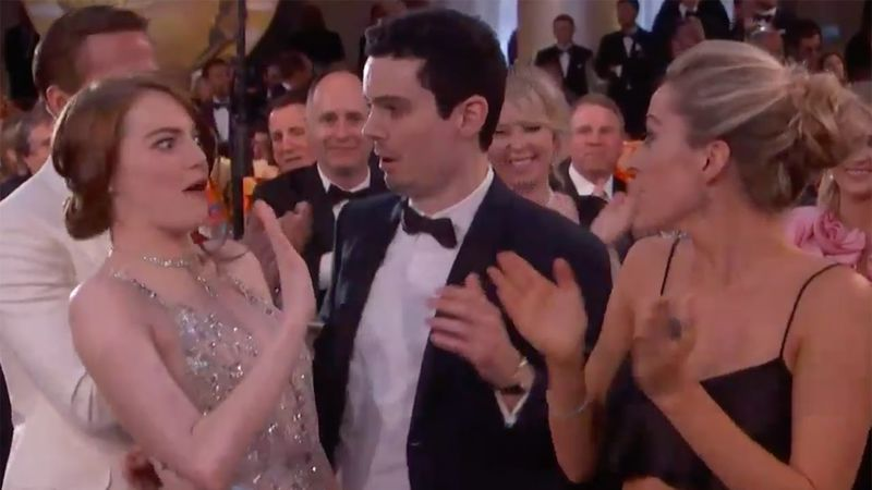Emma Stone And The Awkward Hug