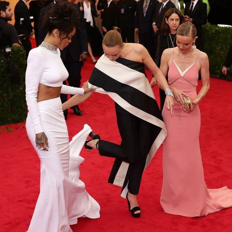 Stella McCartney Tore Up Riri's Dress